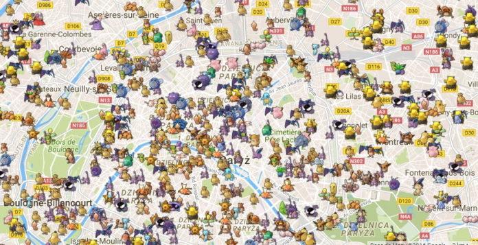 Pokemon GO mapa Pokemonów