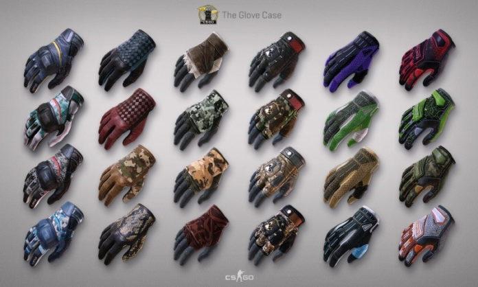 Counter Strike GO skiny rękawiczki