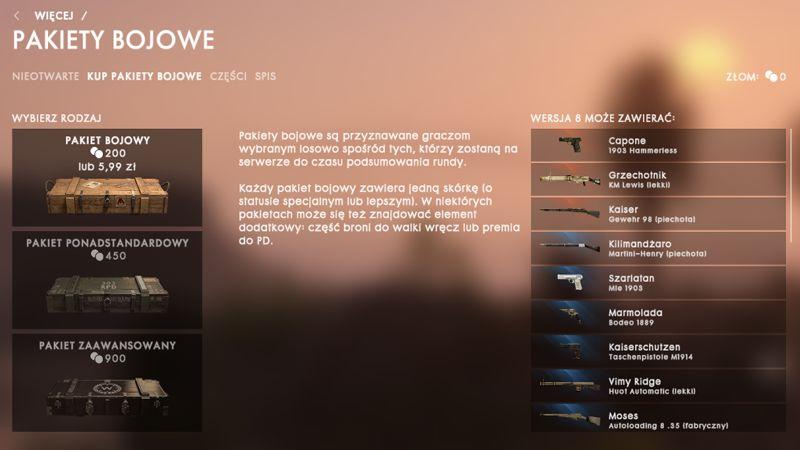 Battlefield 1 Pakiety Bojowe