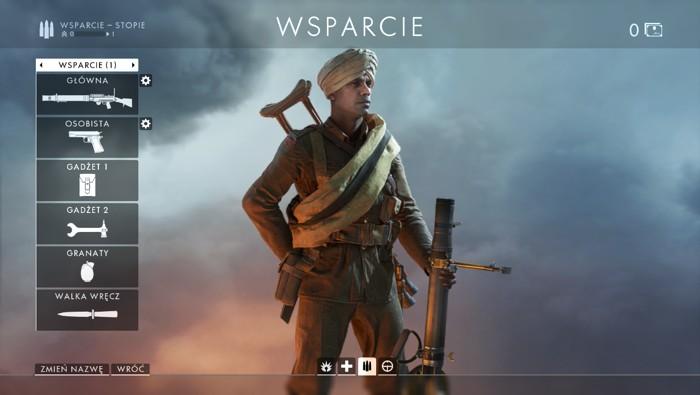 Battlefield 1 - Wsparcie