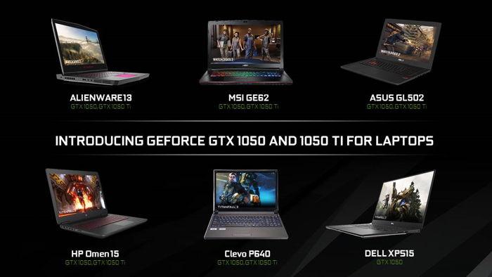 Nowe laptopy z kartami graficznymi GeForce GTX 1050 Ti oraz GTX 1050