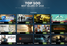 ranking gier steam 2016